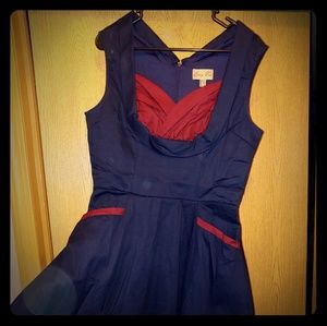 Lindy bop swing dress with sweetheart neckline and